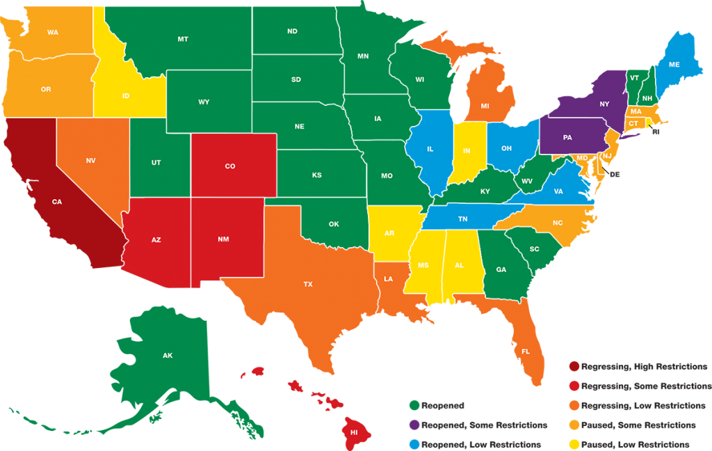 State-By-State COVID Restrictions