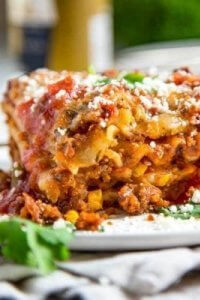 Mexican Lasagna on a plate